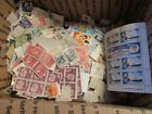 BOX O LOT of Worldwide Postage Stamps off Paper Unchecked or Researched