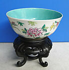 Hand Painted Color Flower Porcelain Bowl With High Leg Stand 4.5