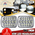 86-95 JEEP WRANGLER YJ CHROME GLEAR LR in CREE chip H4 LED PROJECTOR HEADLIGHTS