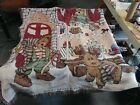 Boyds Bears and Friends Christmas Themed Large Tapestry Throw Blanket