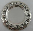 Sterling Silver 925 Round Tray With Floral Details STUNNING 42 GRAMS VIEW