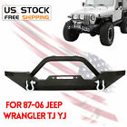 Rock Crawler Front Bumper Winch Plate D Ring For 87 06 Jeep Wrangler TJ YJ