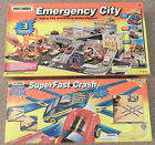 MATCHBOX EMERGENCY CITY POLICE FIRE RESCUE ACTION + SUPERFAST CRASH SPEED SYSTEM