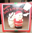 Vintage Ceramic Santa and Toy Sack Salt and Pepper Shaker Set by woolworth co