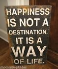 BiG HAPPINESS Wood Wall/Bench SIGN*Primitive French Country Farmhouse Home Decor