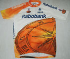 RABOBANK CYCLING JERSEY VINTAGE COLNAGO AGU SPORT SHORT SLEEVE RACE FIT 5