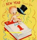 Vintage Style New Years Day CARDS DIE CUTS Gift Tags 24 Piece Sweet 4 Styles