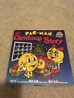 Vintage Pac-Man Christmas Story Read See Hear Record 45 Kid Stuff Book 80s COOL!