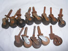Antique Mixed Lot Of Casters / Cast Iron - Wood - Plastic Wheels