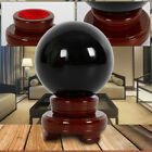 100MM Natural Black Obsidian Sphere Large Crystal Ball Healing Stone +STAND