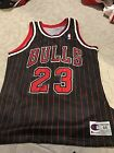 VTG Champion Jersey Authentic Michael Jordan Chicago Bulls Pinstripe NBA 48