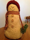 Primitive Stuffed Snowman, Country, Rustic Christmas/Winter Decor