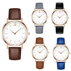 Classic Men Leather Band Analog Quartz Round Alloy Round Wrist Watch Watches L