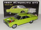 118 Scale GMP Acme 1967 Plymouth GTX Item  A1806703 Linelight Green