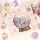DIY Diary Stationery Decoration Crystal Ball Cat Candy Stickers Scrapbooking
