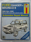 Haynes 36070 Ford Ranger & Bronco II Auto Repair Manual 1983 to 1992