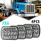 4pcs LED Headlights 7x6 Headlamp for STERLING TRUCK M7500 A9500 LT9500 DAY CAB