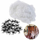 60g White Spider Web+25 Black Spiders Prank Accessory Tricky Prop for Halloween