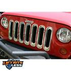 Rugged Ridge 1125220 Chrome Grille Insert Kit for 2007 2018 Jeep Wrangler JK