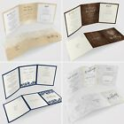 PersonalisedTri Fold Wedding Invitations Includes RSVP Poem or Info Cards