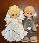 Bride  Groom Wedding paper piecing premade piecing die cut CFAIRIES