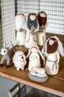 Adorable Set 8 Felt Nativity Scene Holiday Christmas Home Decor8H