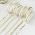 5pcs Gold Lace Crown Washi Tape DIY Scrapbook Masking Adhesive Tapes Diary Gift