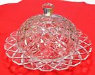 Vintage Round Covered Butter Dish Waterford Clear Anchor Hocking