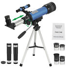 70mm Aperture Astronomical Refractor Travel Scope W Moon Mirror