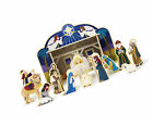Melissa and Doug Clic Wooden Christmas Nativity Set With 4 Piece Stable And 11