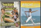 The Biggest Loser Workout Boot Camp + Weight Less Self Hypnosis 2 DVD LOT