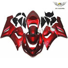 Fairing Fit for Kawasaki Ninja ZX6R 2005-2006 Candy Red Injection Plastic b003