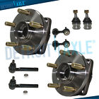 8pc Front Wheel Hub Bearing Tierod Kit for Subaru Legacy Outback w ABS
