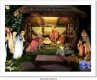 Christmas Nativity Scene With Three Art Print Home Decor Wall Art Poster D