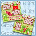 YOURE HOT STUFF VALENTINE 2 Premade Printed Scrapbook Pages 0575