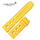 22mm Yellow Rubber Watch Band For Omega Bre Super Ocean 1884 Diver Tudor Pam Tag