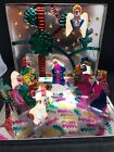 Mexican Folk Art Punch Tin Hojalata Metal Christmas Nativity Set Box Kid Colors