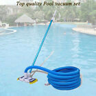 Swimming Pool Vacuum Cleaner Telescopic Pole Brush Head 33ft Cleaning Tool Hose