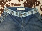 JOES JEANS Embroidered Waist Raw Rolled Cuff Vintage Reserve Cropped Capri 27