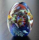 Grant Randolph Studios Art Glass Egg Paperweight Butterfly Tree of Life 1980
