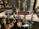 Vintage Fontanini Nativity Set Mary Joseph Halo Spider Mark Italy Depose