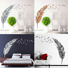 Removable Birds Flying Feather Wall Sticker Vinyl Home Decal Mural Art Wall Deco