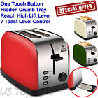 Electric Toaster 2 Slice Bread Wide Slots Bagel Extra wide High Lift Lever