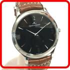Jaeger LeCoultre Master Ultra Thin Stainless Steel 145.8.79.S Black Silver Watch