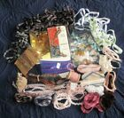 HUGE LOT VINTAGE TRIMS~MOTIFS~BRAIDS~LEATHER~SILK~COTTON~RAYON~SCHIFFLI~METALLIC