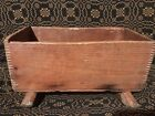 Antique Primitive Tramp Folk Art Dove Tail Box Rockers Toy Doll Cradle AAFA