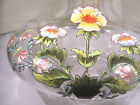 SUPERB ANTIQUE FRENCH GLASS CRYSTAL 8X5 VASE HAND BLOWN ENAMEL FLOWERS EX COND
