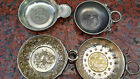 #4  French Coin Silver plated and pewter  taste vine cups 1900's