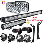 For Jeep Wrangler Yj 1987-1995 52 700w Led Light Bar Mounting Brackets Set