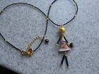 Murano glass necklace lucky doll Made Italy Authenitc